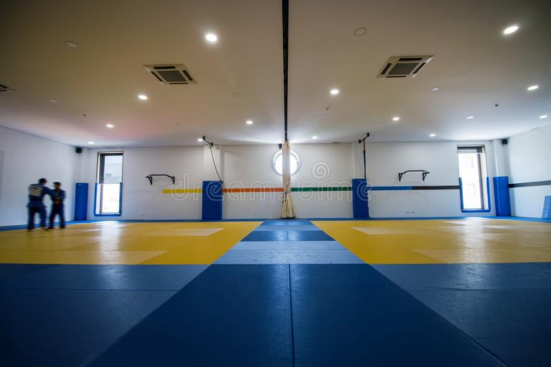 Judo training hall royalty free stock photography