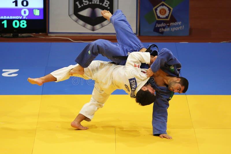 Judoactie stock fotografie