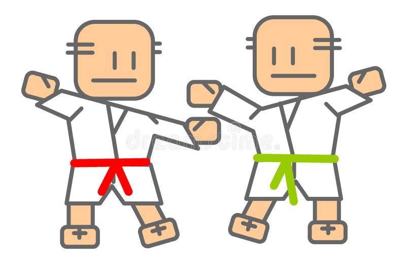 judomän royaltyfri illustrationer