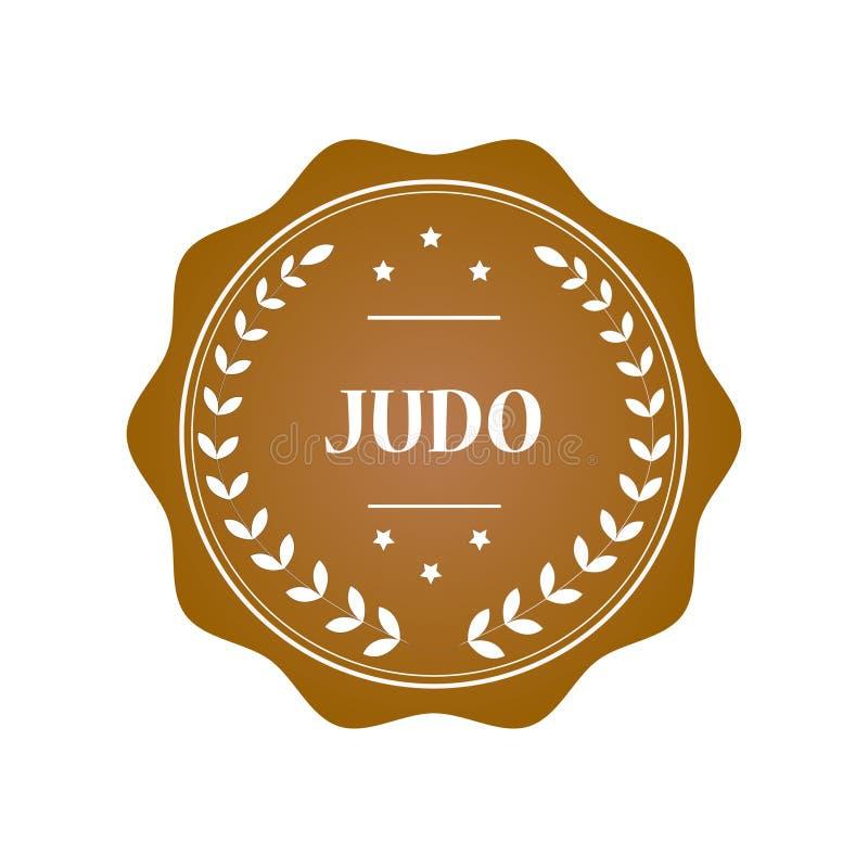 Judostempelillustration stockfotografie