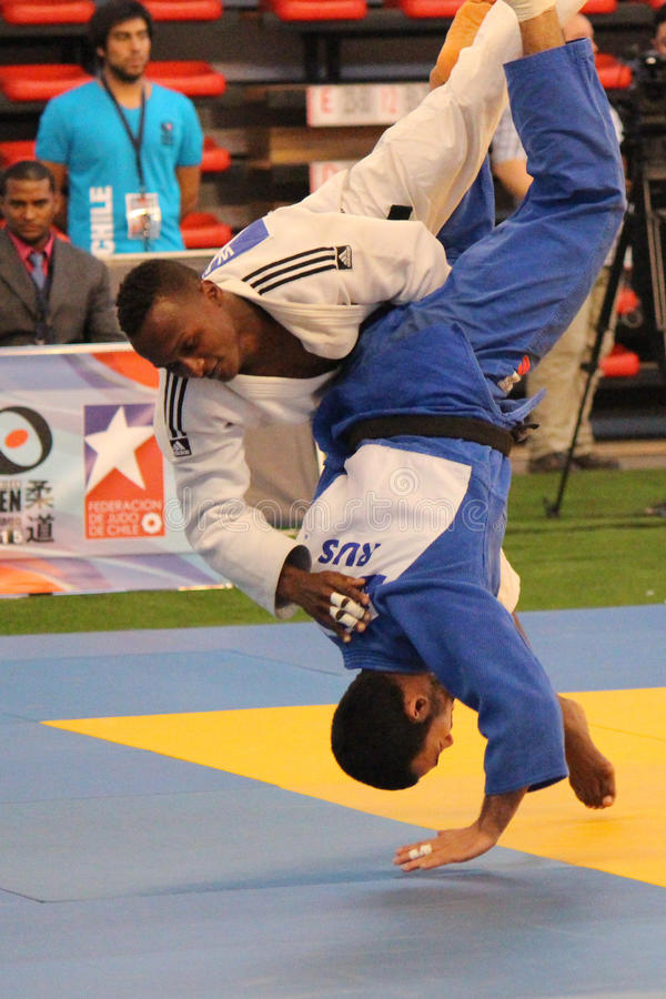 Judotoernooien royalty-vrije stock afbeelding