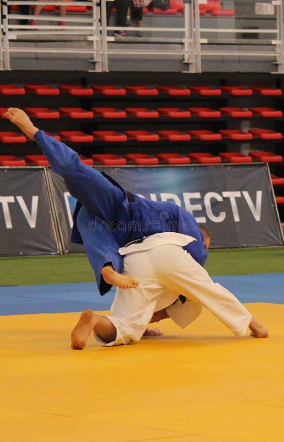 Judotoernooien stock afbeelding