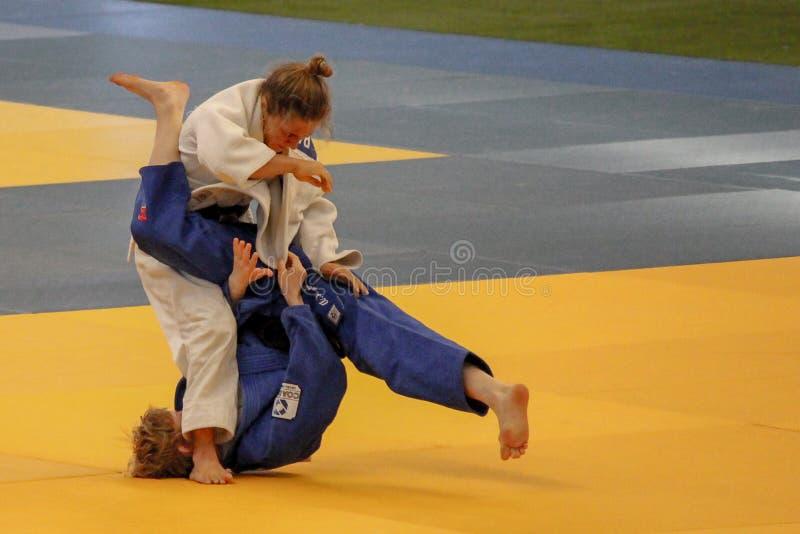 Judoturnier lizenzfreies stockbild