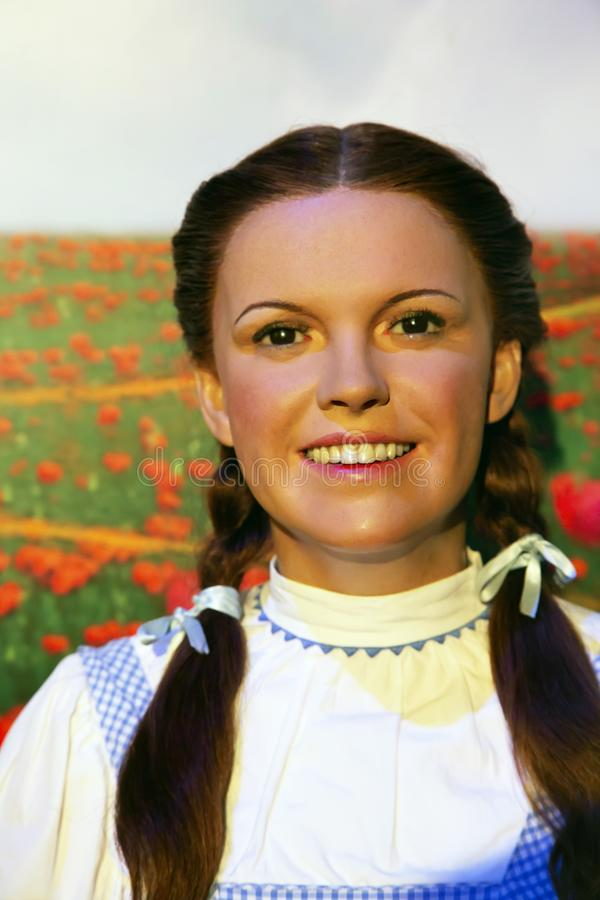 Judy Garland dans Madame Tussauds de New York image libre de droits