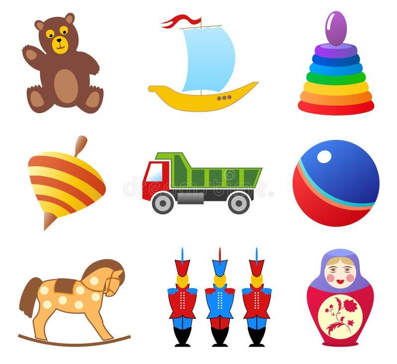 Juega iconos stock de ilustración