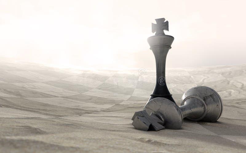 Juego de ajedrez del desierto encima libre illustration