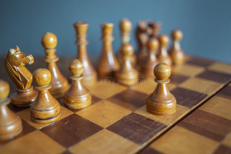 Juego de ajedrez del vintage fotografía de archivo