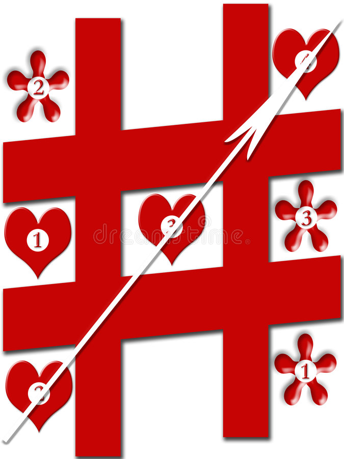 Juego de amor ilustración del vector