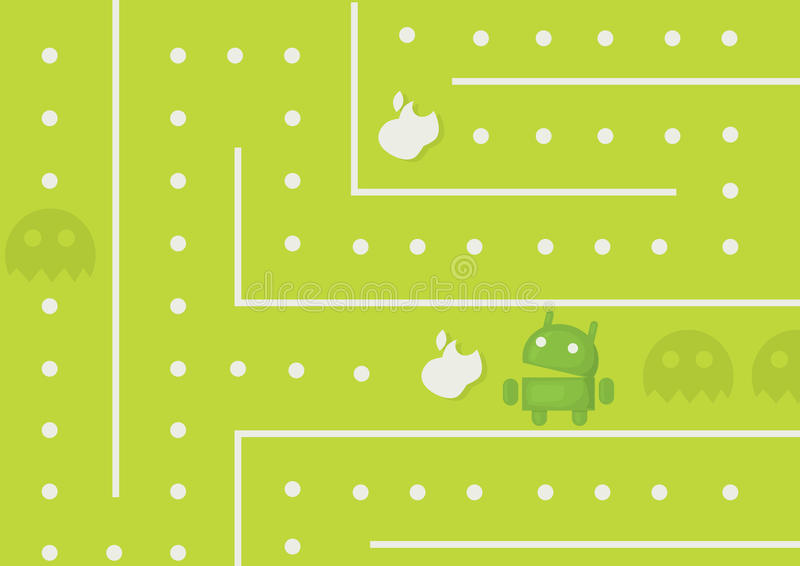 Juego de Android imágenes de archivo libres de regalías