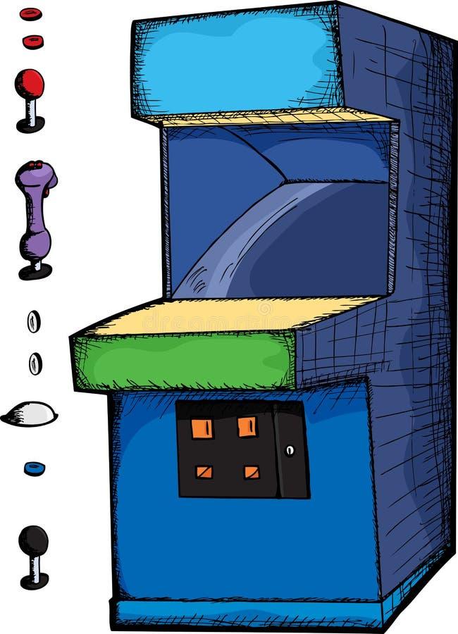 Juego de arcada adaptable stock de ilustración
