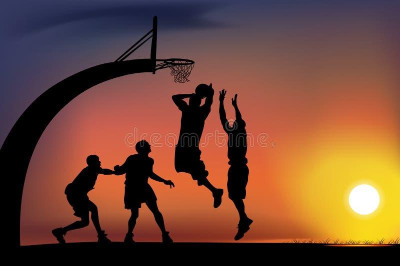 Juego de baloncesto ilustración del vector
