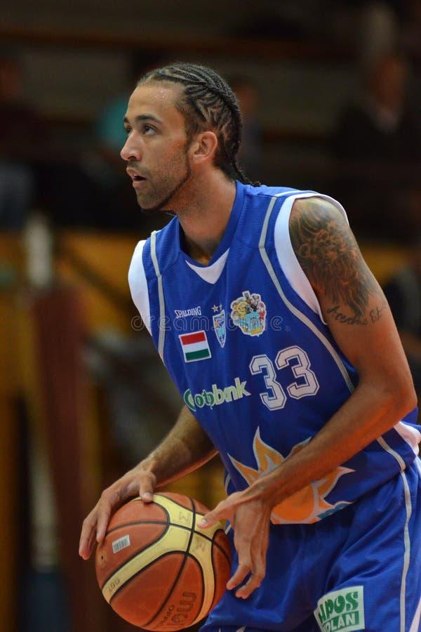 Juego de baloncesto de Kaposvar - de Zalaegerszeg imagenes de archivo