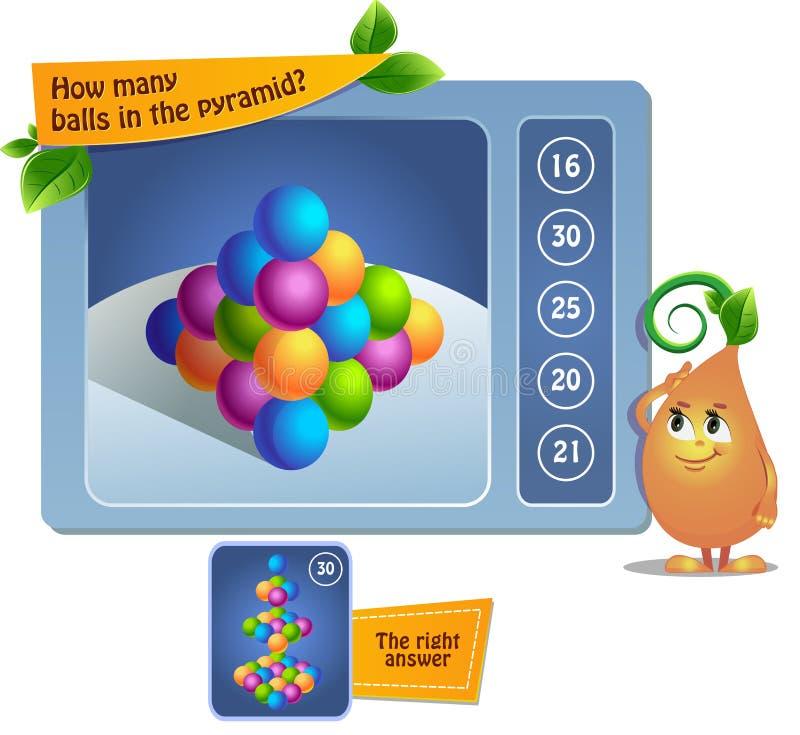 Juego de bolas educativo ilustración del vector