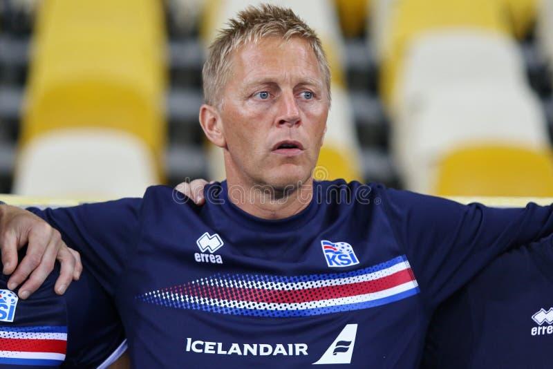 Juego de calificación Ucrania v Islandia del mundial 2018 de la FIFA imágenes de archivo libres de regalías