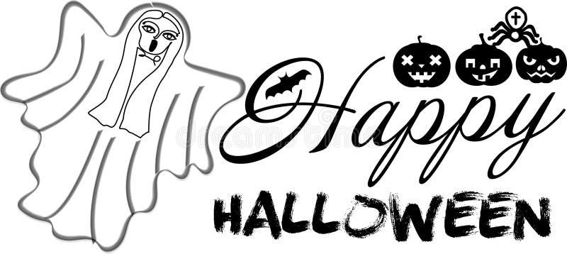 Juego de caracteres del día de fiesta de Halloween ilustración del vector