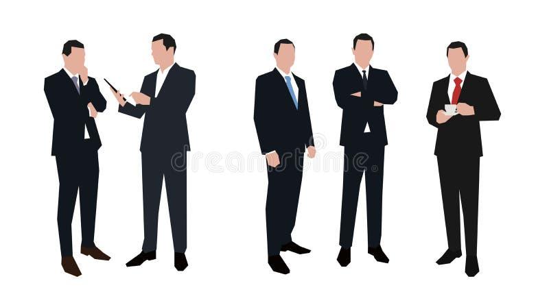 Juego de caracteres del hombre de negocios en diversas actitudes libre illustration