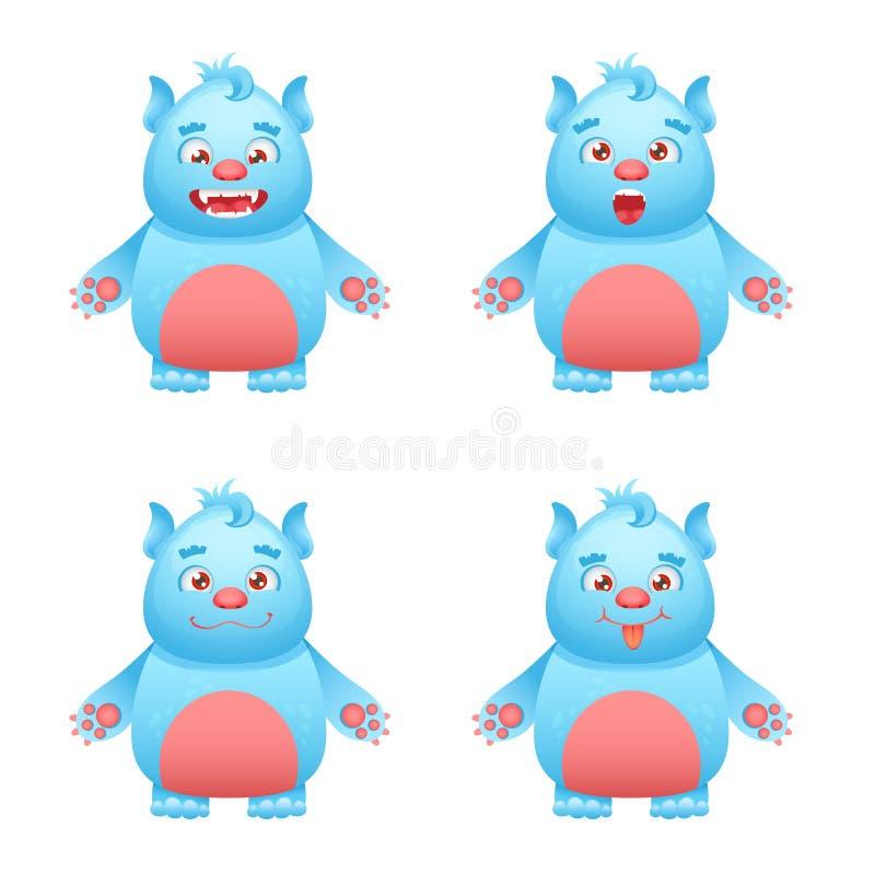 Juego de caracteres del monstruo ilustración del vector