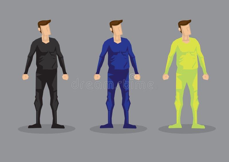 Juego de caracteres del vector de la moda del mono de los hombres stock de ilustración