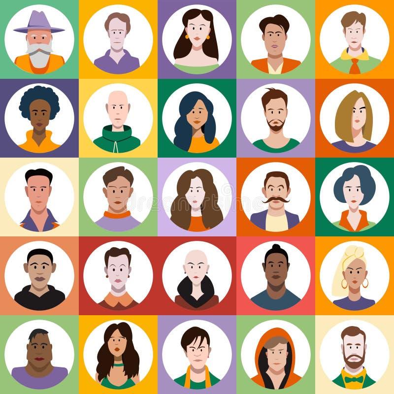 Juego de caracteres de la gente ilustración del vector