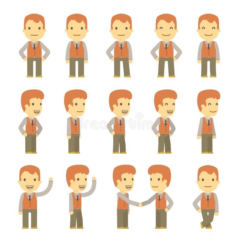 Juego de caracteres urbano en diversas actitudes. simple libre illustration