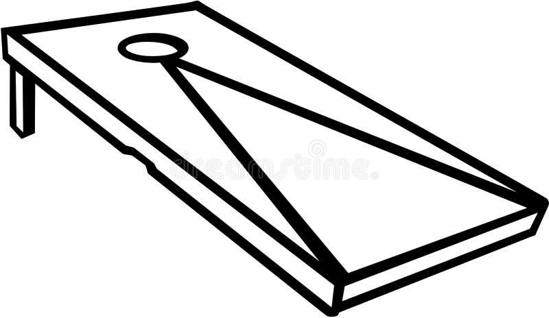 Juego de Cornhole ilustración del vector
