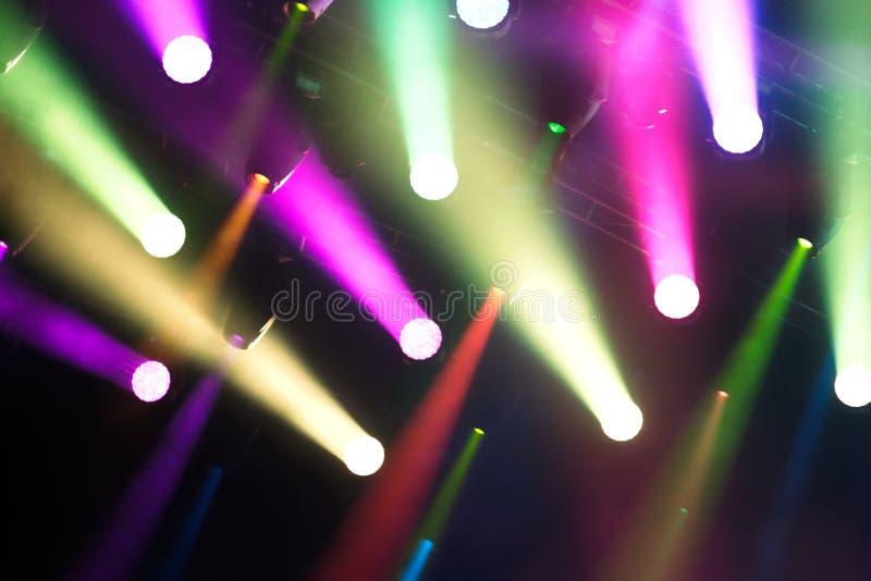 Juego de diversos colores de las luces fotografía de archivo