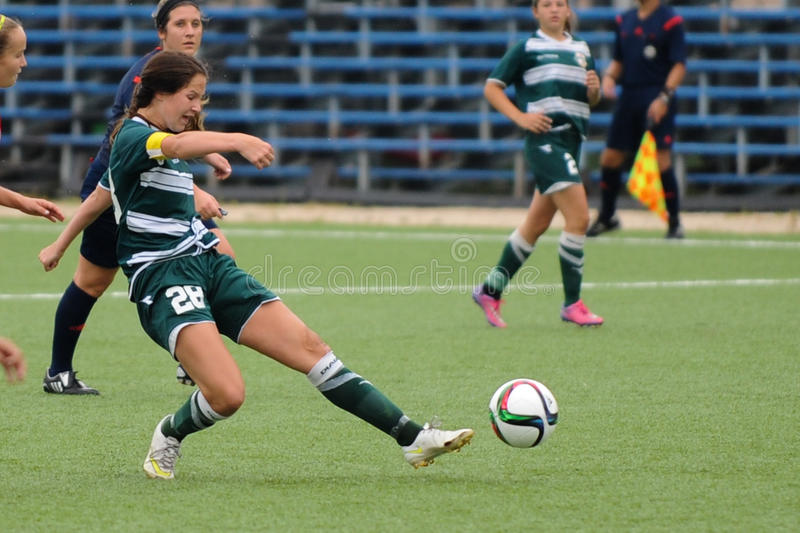 Juego de fútbol de las mujeres fotografía de archivo