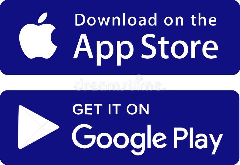 Juego de Google de la tienda del app de los iconos libre illustration