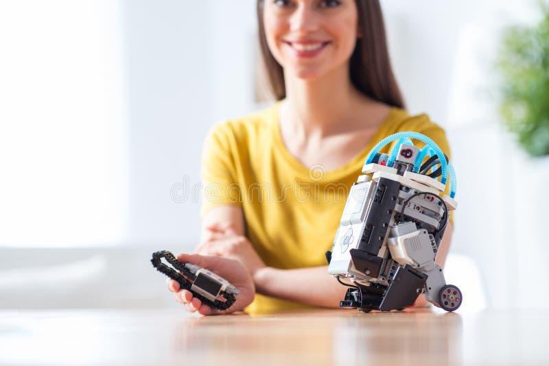 Juego de I con el robot foto de archivo