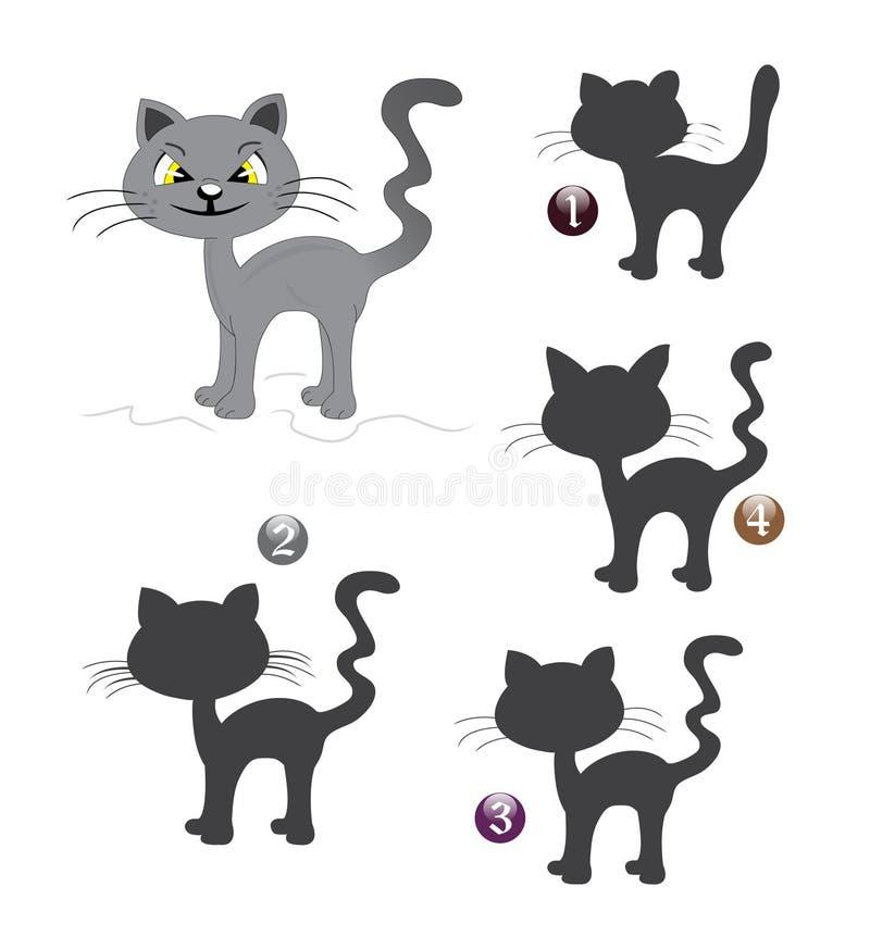 Juego de la dimensión de una variable de Víspera de Todos los Santos: el gato stock de ilustración