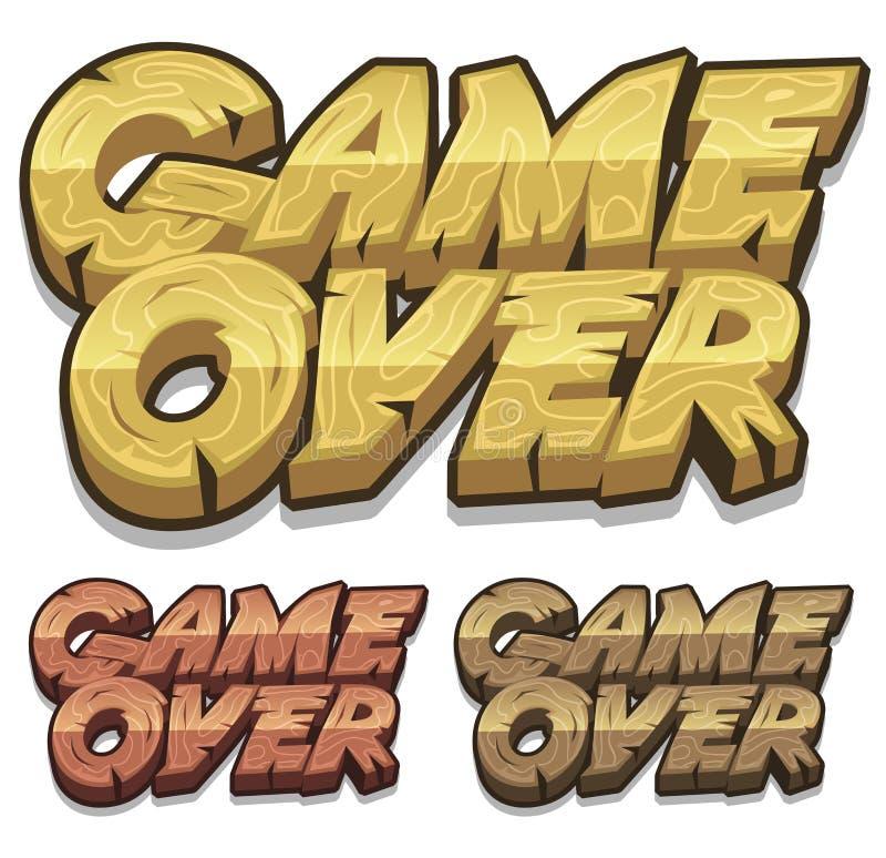 Juego de la historieta sobre el icono para el juego de Ui stock de ilustración
