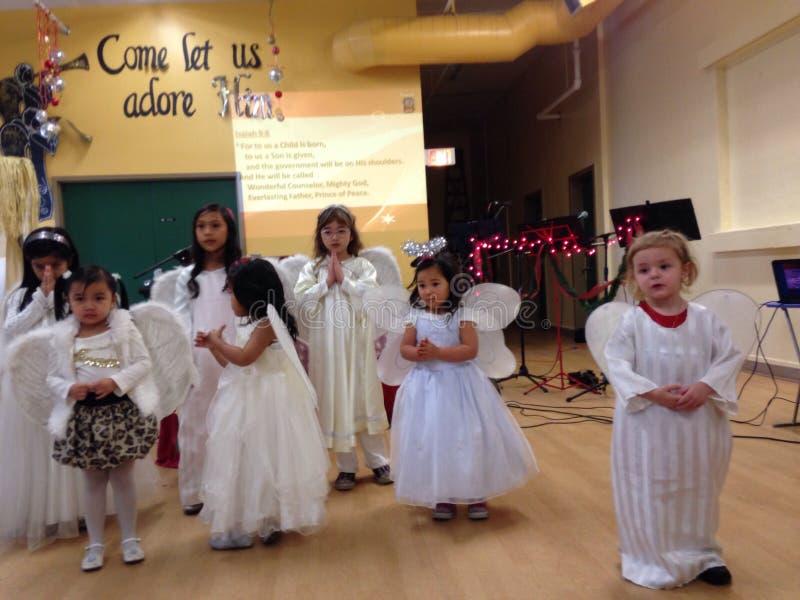 Juego de la iglesia de la Navidad foto de archivo