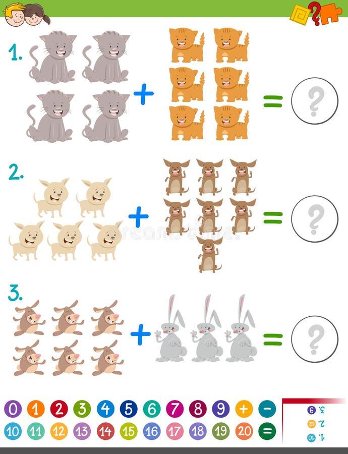Juego de la matemáticas de la adición para los niños libre illustration