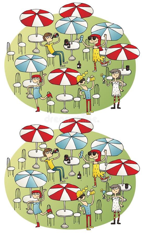 Juego de la representación visual de las diferencias de la barra libre illustration