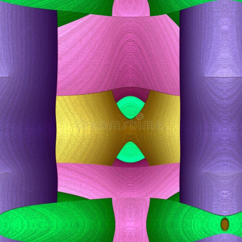 Juego de la serie de las formas Fondo abstracto del arte moderno Arreglo de formas abstractas pintadas vibrantes a propósito de l stock de ilustración