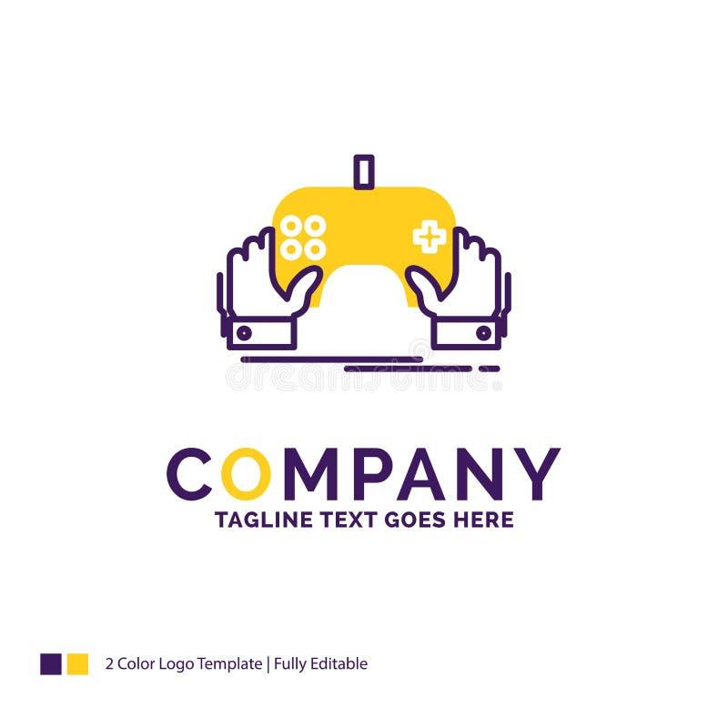 Juego de Logo Design For del nombre de compañía, juego, móvil, entretenimiento ilustración del vector