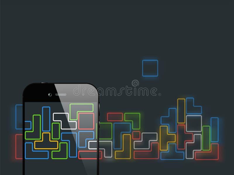 Juego de los briks de Smartphone stock de ilustración