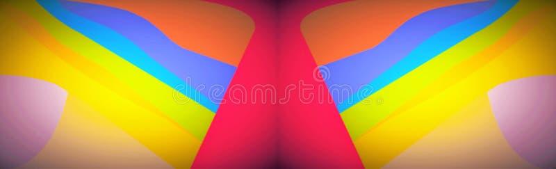 Juego de los fondos del arte de la banda del arco iris stock de ilustración