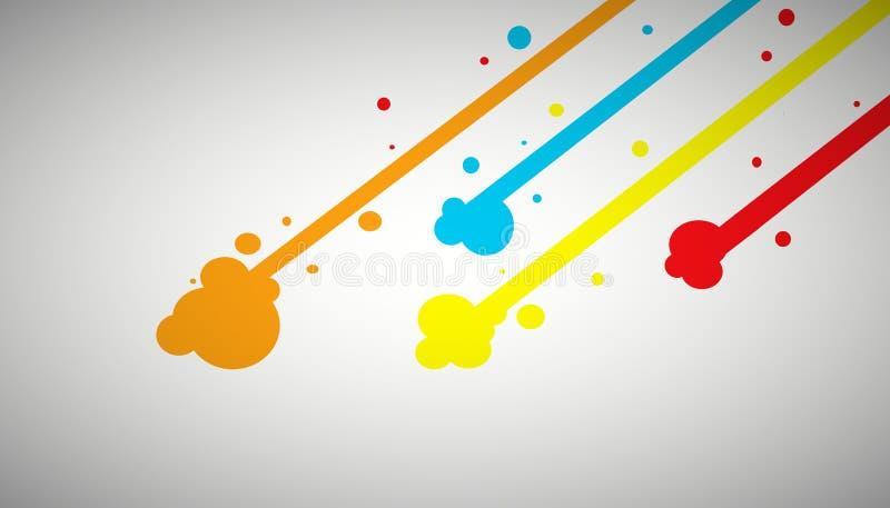 Juego de los fondos del arte de la banda del arco iris ilustración del vector