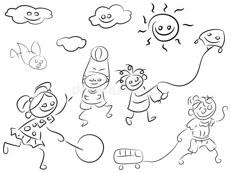 Juego de los niños ilustración del vector