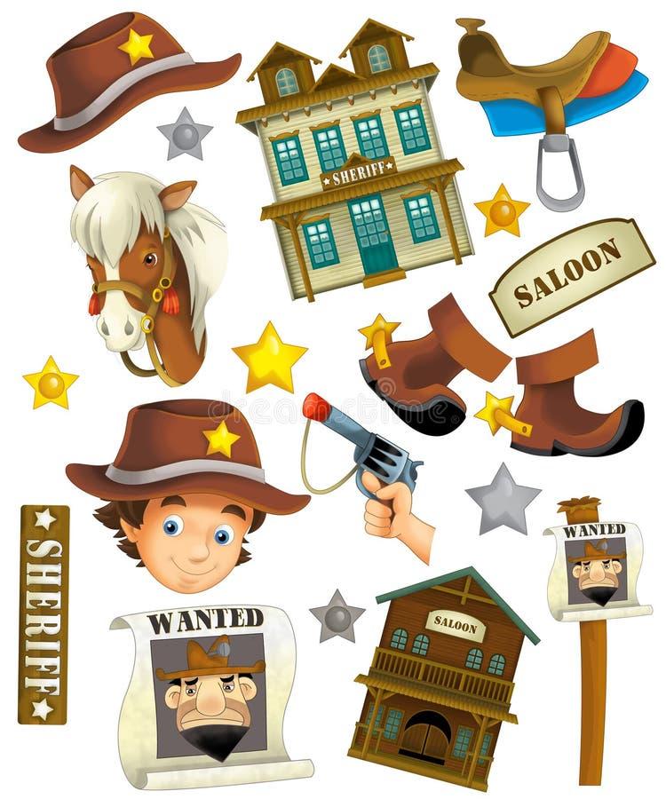 Juego de mesa - diversión a construir - ejemplo para los niños stock de ilustración