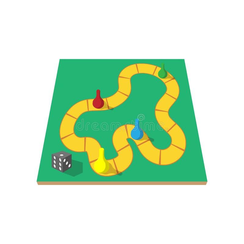 Juego de mesa de los niños con el icono de la historieta de los microprocesadores libre illustration