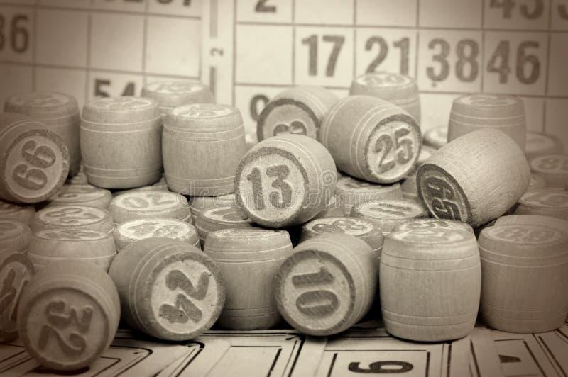 Juego de mesa - una loteria fotografía de archivo libre de regalías