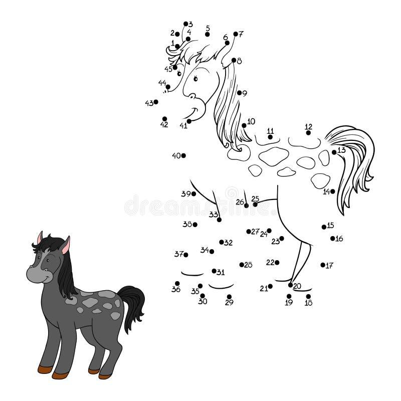 Juego de números (caballo) ilustración del vector