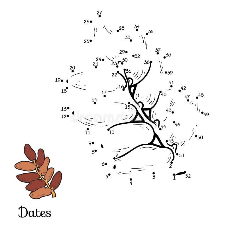 Juego de números: frutas y verduras (fechas) stock de ilustración