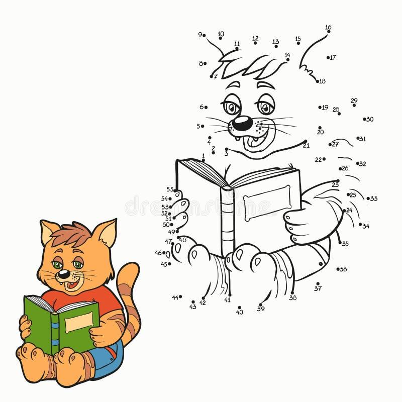 Juego de números (gato) stock de ilustración