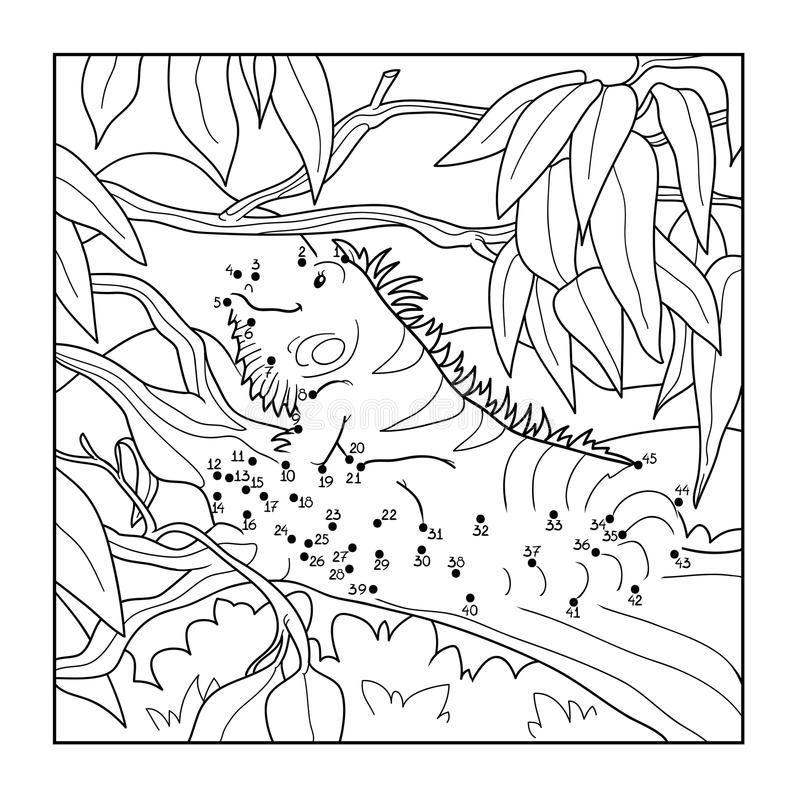 Juego de números (iguana) ilustración del vector