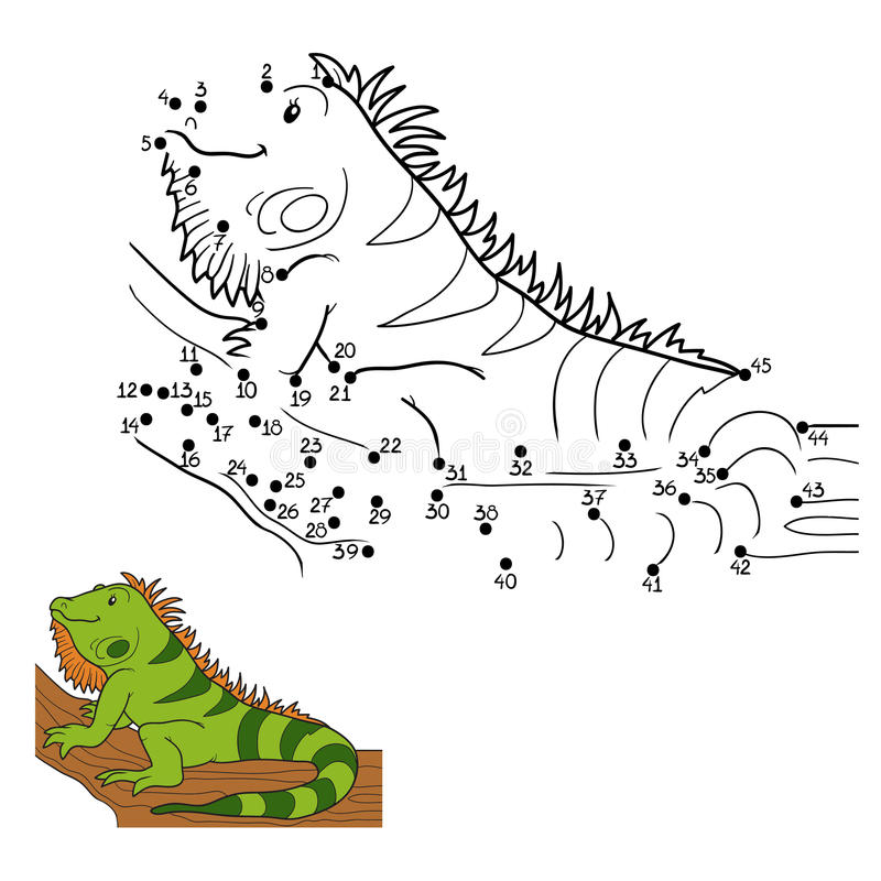 Juego de números (iguana) libre illustration