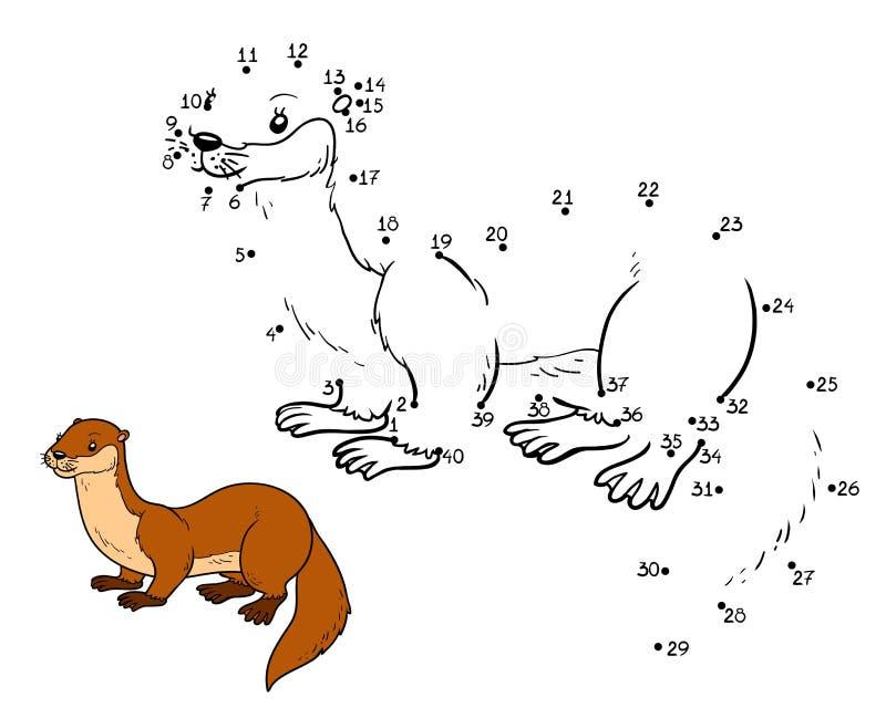 Juego de números (nutria) ilustración del vector. Ilustración de ...