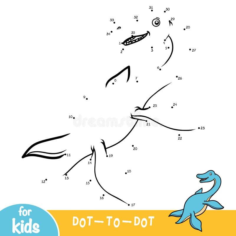 Juego de números, juego para los niños, Elasmosaurus de la educación libre illustration
